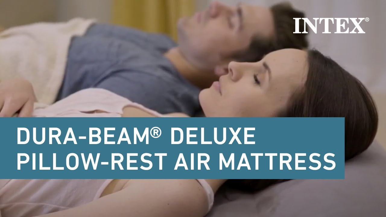 Intex Dura Beam Standard Deluxe Pillow Rest Raised Airbed Youtube
