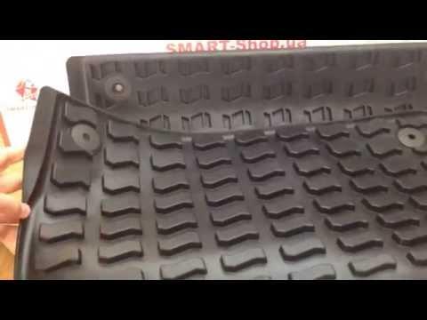 Резиновые коврики задние Audi Q7 4L0061511041