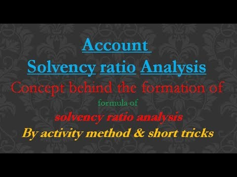 Concept behind the formation of formula of solvency ratio analysis ( hindi / urdu / english )