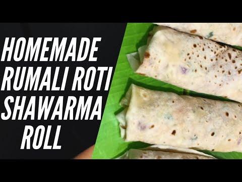 Chicken Shawarma With Rumali Roti, Rumali Roti Ka Shawarma, Chicken Shawarma at Home,Rumali Roti ,😋😋