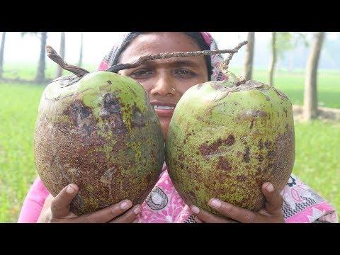 Delicious Coconut Vorta Recipe In my Village FARM FRESH Cooking Coconut Paste Recipe Village Food