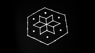 Easy rangoli design with 7X4 dots | Simple rangoli designs | easy muggulu design | simple kolam