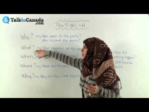 Learn The 5 W's In English (Who, What, Where, When, Why Plus How)