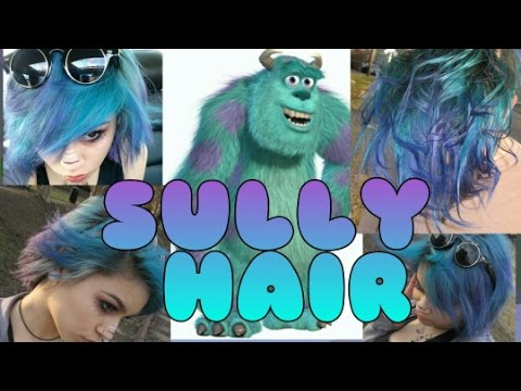 how to dye sully from monsters inc hair kylie the jellyfish youtube