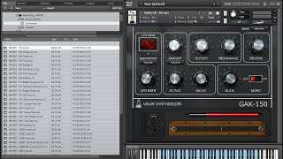 GAK150 Valve Synth for Kontakt - Overview