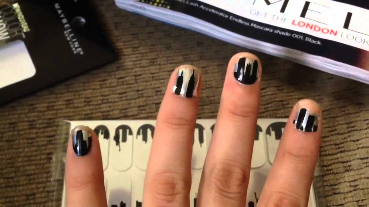 Maybelline Color Show Fashion Print Nail Stickers Review - YouTube