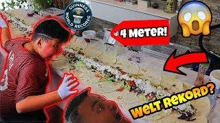 😋*4 Meter Dürüm Döner* gemacht und gegessen! (Weltrekord?) | Can Wick