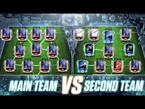 My Full PRIME ICON TEAM Vs My SECOND ACCOUNT | 164 Rated Team VS 146 Rated Team In FIFA MOBILE 21 |