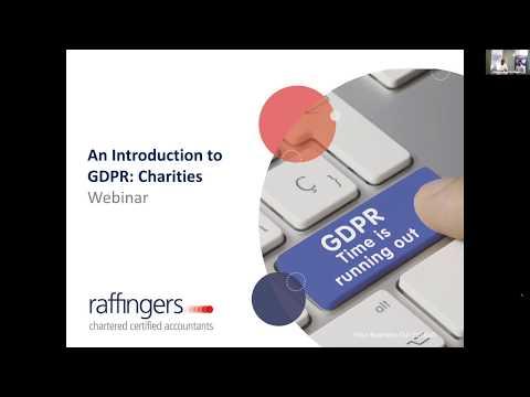 An Introduction to GDPR: Charities | Webinar