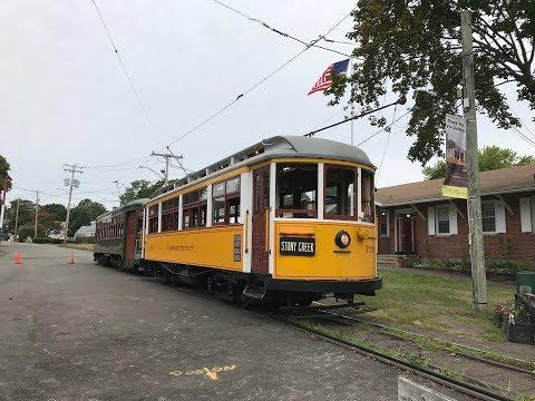 Shore Line Trolley Museum HD 60fps: Fan Railer Operates Connecticut Car 775 (8/29/17)
