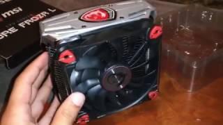 msi frozr l am4 socket cooler unboxing