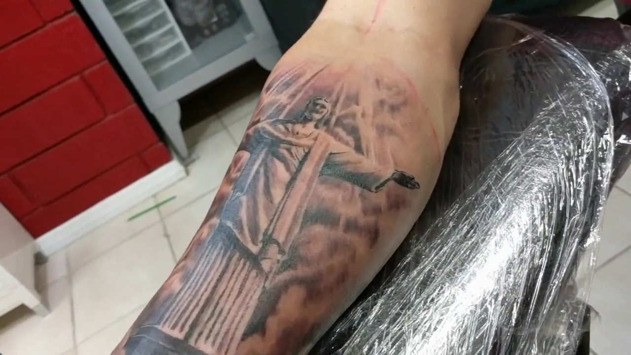 Tattoo Timelapse Christ The Redeemer Brazilstatue Youtube