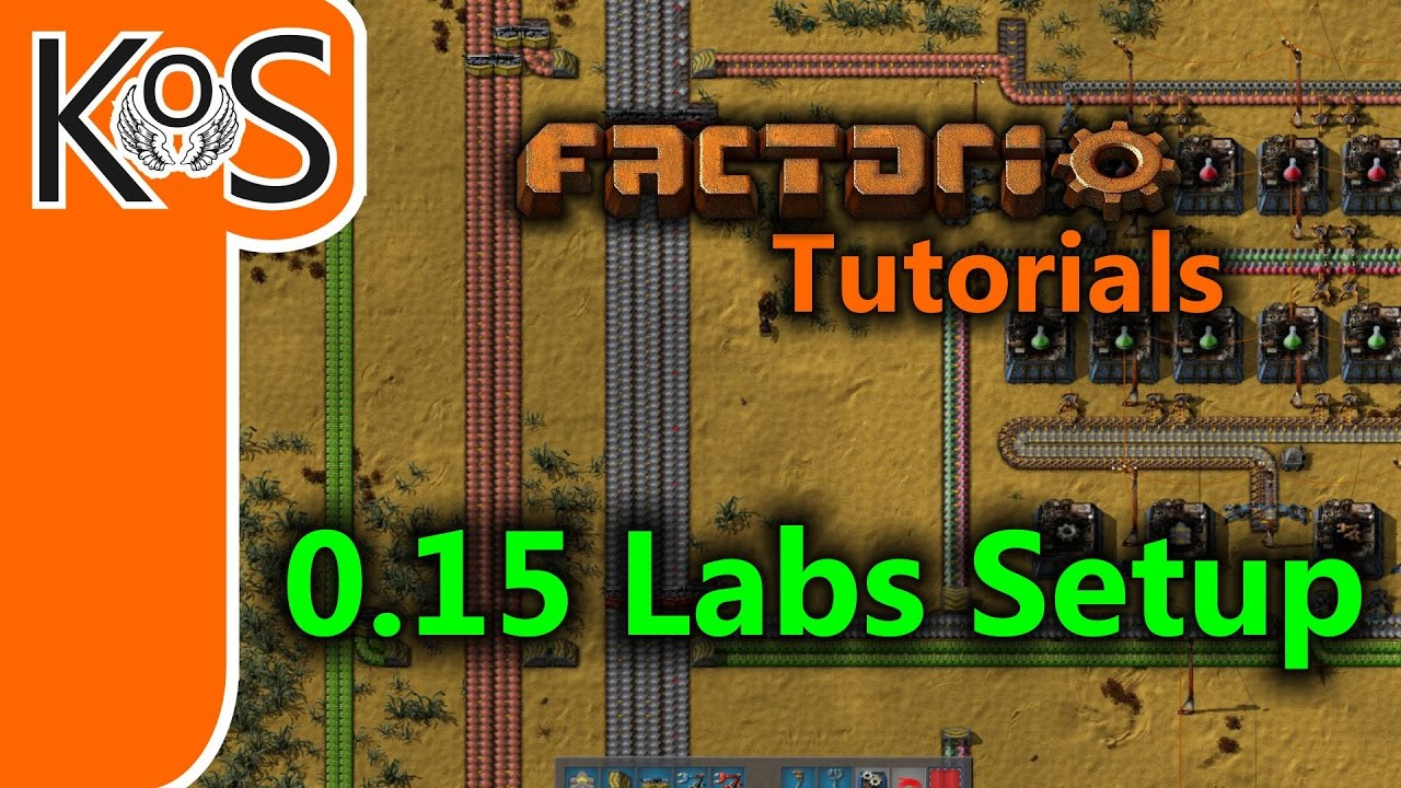 OLD -- SEE NEW VIDEO -- Factorio Tutorials: 0 15 Labs Setup (Science)