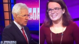 alex trebek calls jeopardy contestant a loser for her choice in music