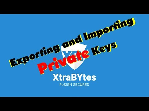 XTRABYTES XBY Development Log - Importing And Exporting Wallet Address Private Keys, How To Tutorial