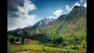 Поход и пикник в горах Таджикистана.