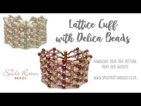 Lattice Bracelet Tutorial with Delica Beads - Beading Tutorial