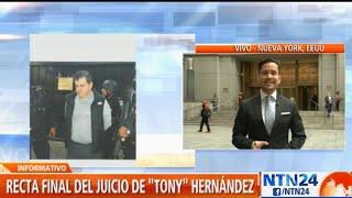Por comenzar deliberación del jurado en juicio por narcotráfico contra Tony Hernández