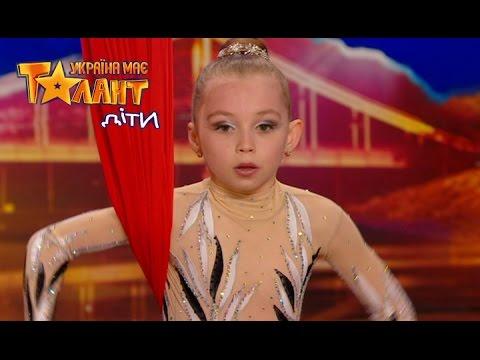 9 years old girl showed aerial acrobatics on Ukraine's Got Talent.