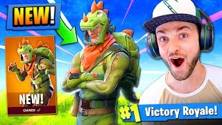 NEW LEGENDARY T-REX GAMEPLAY in Fortnite Battle Royale