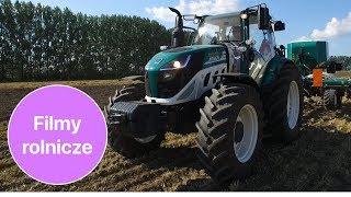 Włoska marka - traktor + siewnik i agregat na pokazie polowym