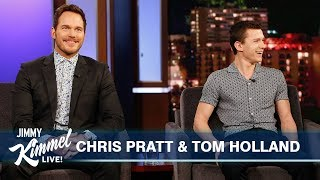 Tom_Holland_Surprises_Chris_Pratt