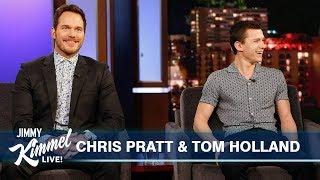 Download Tom Holland Surprises Chris Pratt Mp3 and Videos