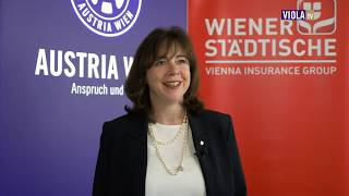 Viola Talk Wiener Städtische unterstützt violettes Frauenteam