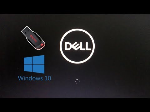 DELL : How To Install Windows 10 From USB