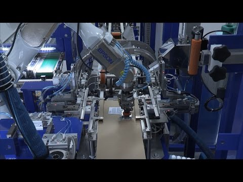 Epson C4 6-Axis Robot used on Ink Cartridge Packaging Line