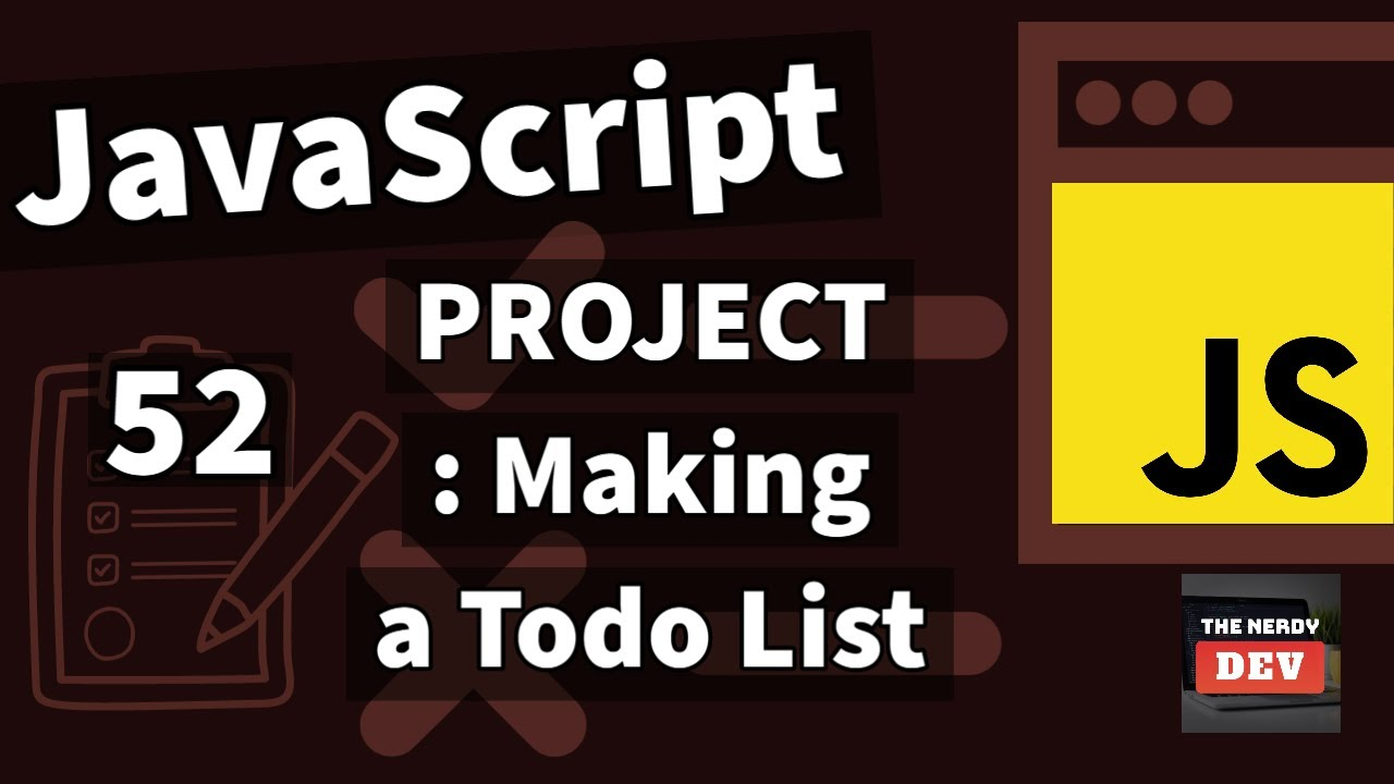 Making a Todo List HTML, CSS and JavaScript From Scratch using Custom Events