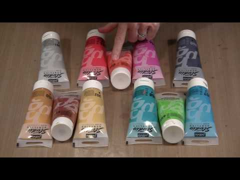 Pebeo Studio Acrylics Color Mixing & Gel Press