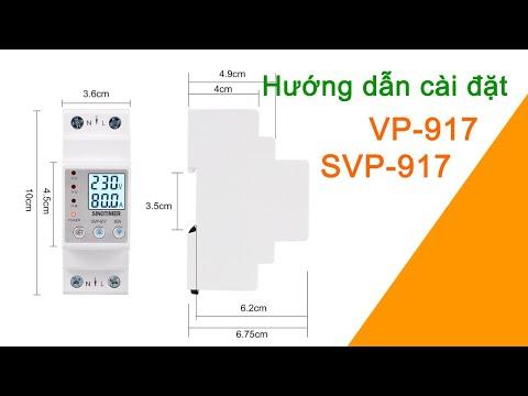 Hướng Dẫn Cài Đặt Công Tắc Bảo Vệ Lỗi Điện Áp Và Dòng Điện 1 Pha 80A VP-917 SVP-917 SmartHomePlus.vn