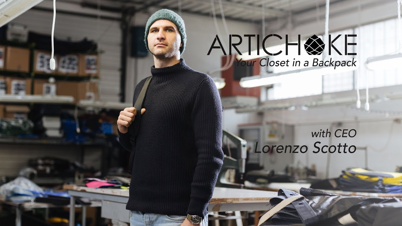 cd6afa9d6d8c Artichoke Backpack with CEO Lorenzo Scotto - YouTube