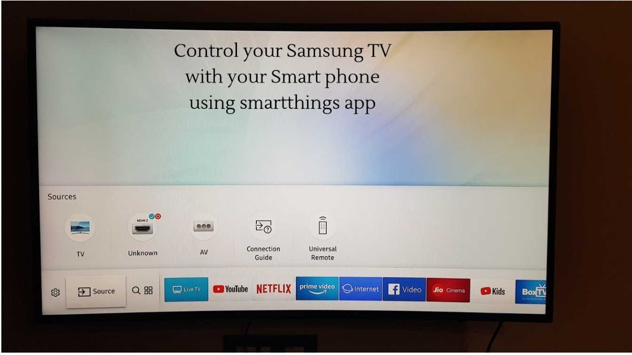 (Hindi) How to control Samsung smart TV with your phone using SmartThings  app