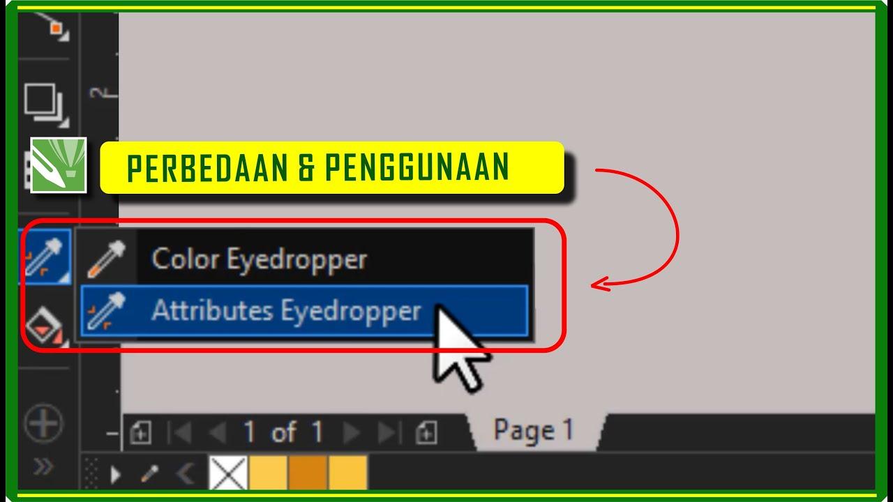 BELAJAR CORELDRAW - penggunaan attributes eyedropper tool