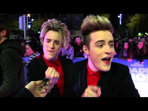 Goss.ie interviews Jedward at Daddy's Home Premiere