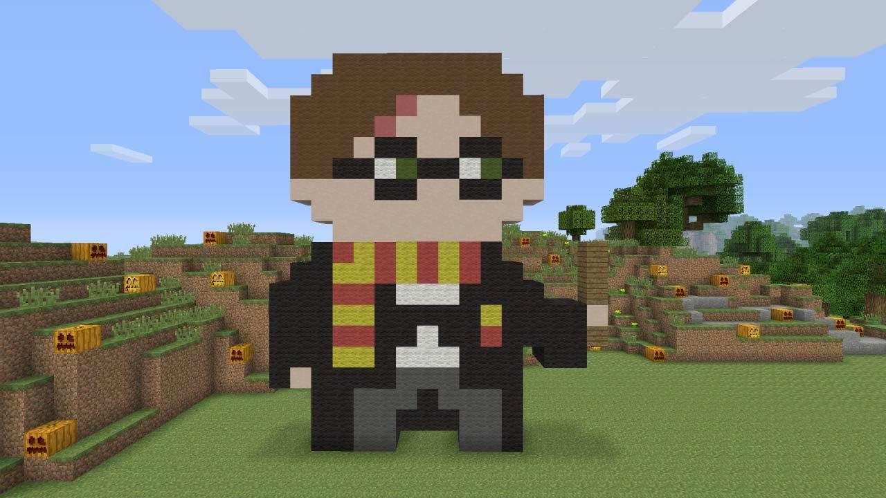 Superior Minecraft Pixel Art   Harry Potter   YouTube