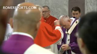 Pope receives ashes in solemn Ash Wednesday ceremony in Rome