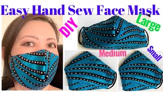 142 How To Make Luxury Fabric Face Mask The Twins Day Best Fit Face Mask Hand Sew Tutorial