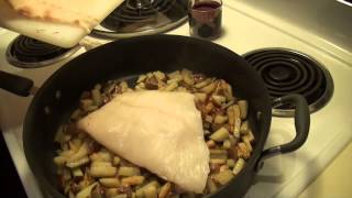 Campfire Style Halibut And Potatoes