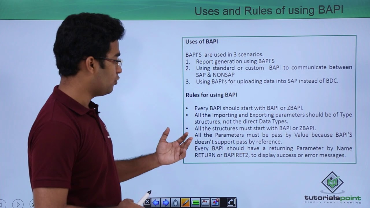 SAP ABAP - Uses and Rules of Using BAPI