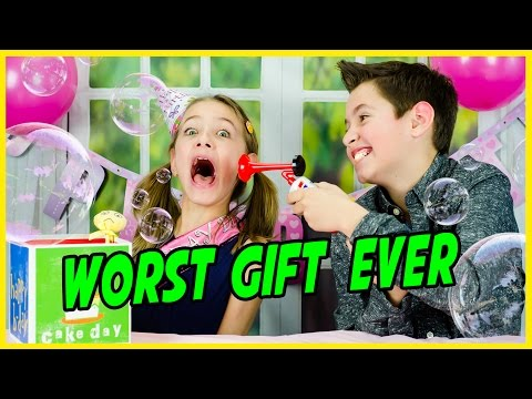 WORST GIFT EVER CHALLENGE! PLAYING WITH WEIRD TOYS! DOLLAR STORE BIRTHDAY PARTY FUN!
