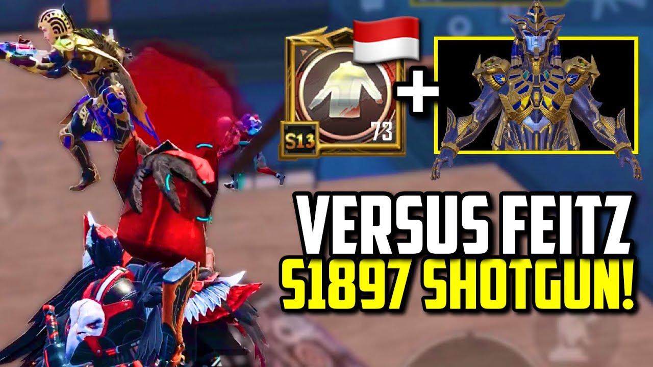 S1897 SHOTGUN VS MAX GOLDEN PHARAOH X-SUIT & CONQUEROR! | PUBG Mobile