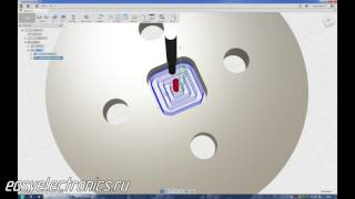 Autodesk Fusion 360. CAM процессор. Вырезание фланца.(Пример создания обработки., 2017-01-21T13:09:59.000Z)