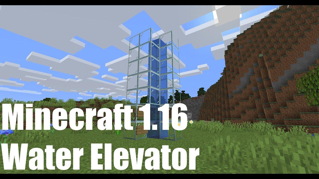 MINECRAFT WATER ELEVATOR 122.1225/122.1226