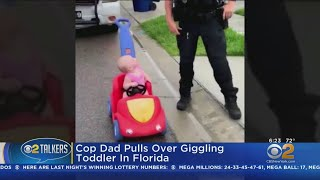 Police Officer 'Pulls Over' Toddler Daughter