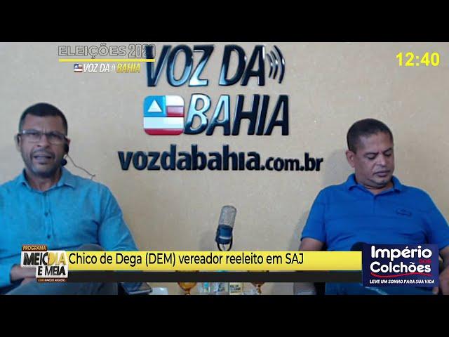 Meio-dia e meia live Chico de Dega vereador reeleito em SAJ