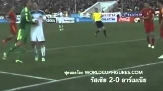 คลิปย้อนหลัง ฟุตบอลโลก ทีมชาติรัสเซีย 2-0 ทีมชาติอาร์เมเนีย ในรอบคัดเลือกบอลโลก 2014