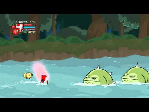 Castle Crashers Beating The Catfish Boss Insane Mode
